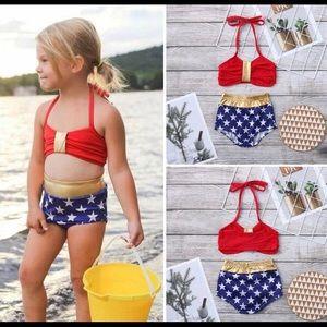 Other - Wonder Woman Fourth of July swimwear